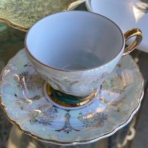Lustreware Japanese Cup and Saucer